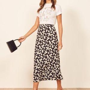 Reformation Bea Skirt Daisy Chain Midi Length